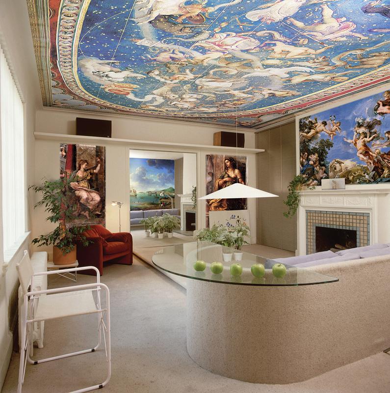 Рисунки на стене в ванной своими руками