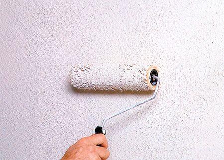 Фактурная краска для стен.