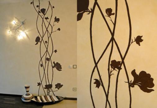 Дизайн роспись на стенах