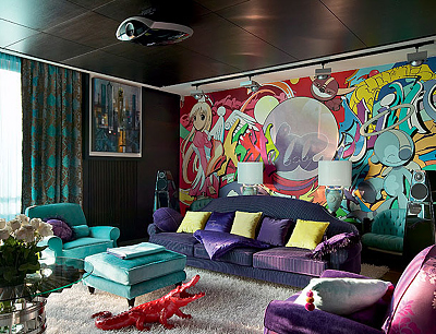 Арт дизайн комнат