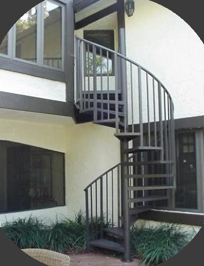 Наружная лестница как декоративный