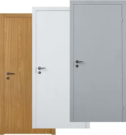 офисные металлические двери белые